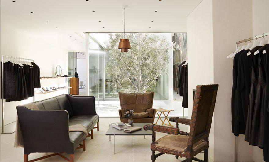 the row's The Row's first store with mid-century Californian home style The Row   s 3