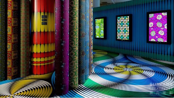 vlisco's fabric exhibition Vlisco's Fabric Exhibition at Museum Helmond Vlisco   s Fabric Exhibition 1