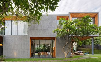 Pivoting doors offer breezes and views at Tamara Wibowo's Indonesian home