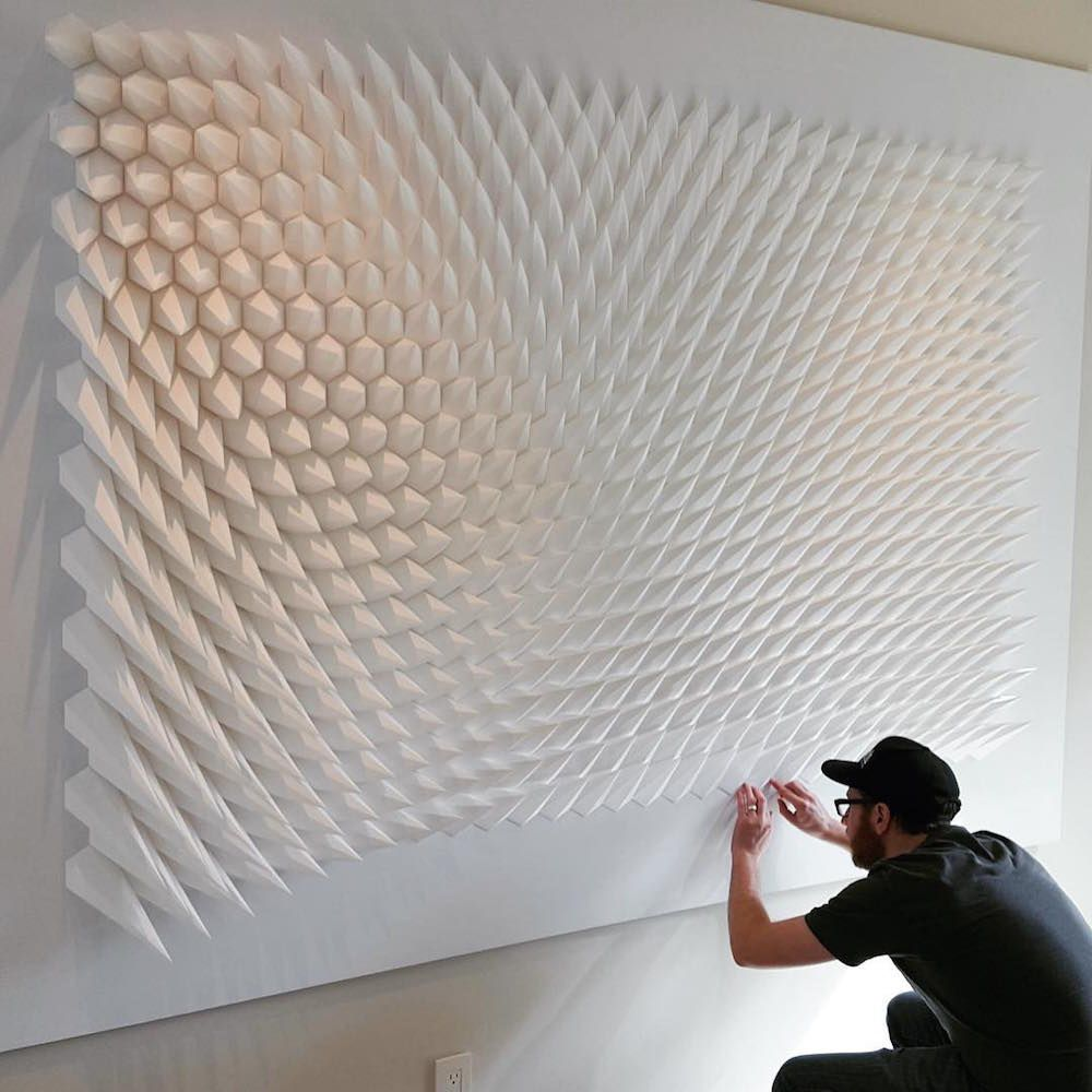 geometric art Engineer Turns Simple Sheets Of Paper Into Geometric Art engineer turns simple sheets paper geometric art 10