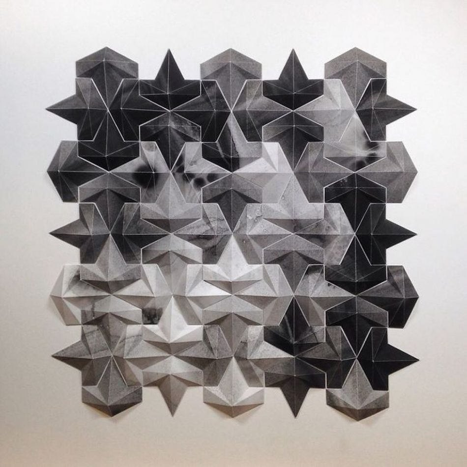 Geometric Art geometric art Engineer Turns Simple Sheets Of Paper Into Geometric Art engineer turns simple sheets paper geometric art 17