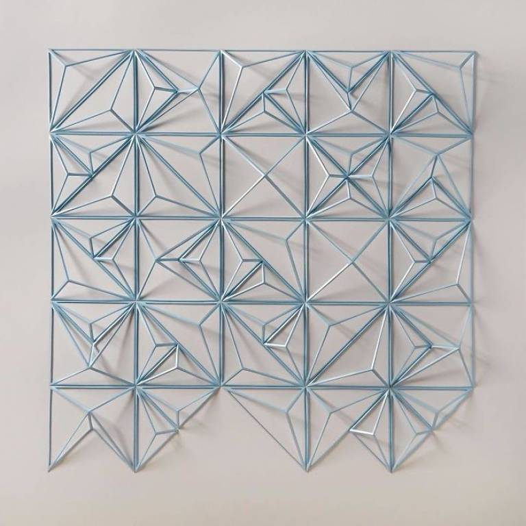 geometric art Engineer Turns Simple Sheets Of Paper Into Geometric Art engineer turns simple sheets paper geometric art 19