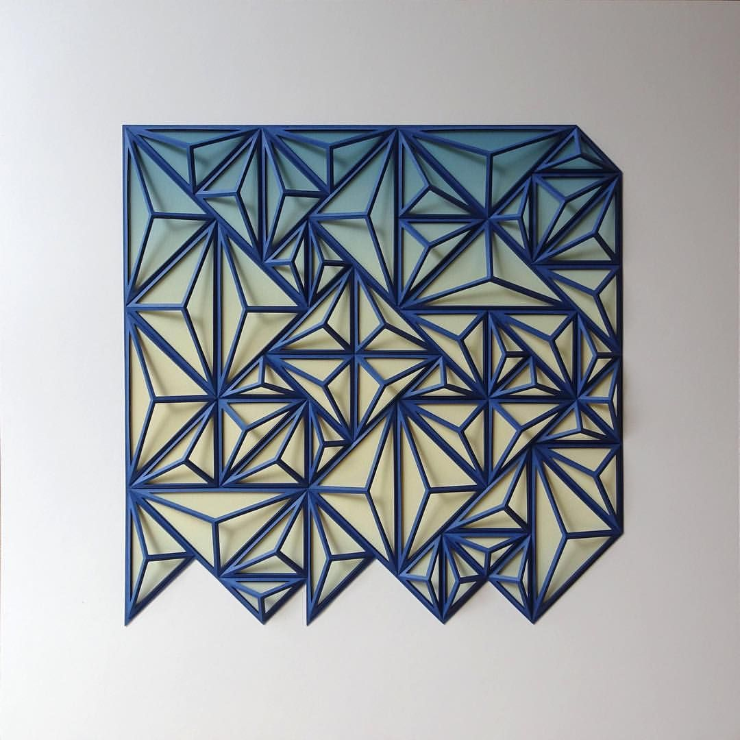 Geometric Art geometric art Engineer Turns Simple Sheets Of Paper Into Geometric Art engineer turns simple sheets paper geometric art 2