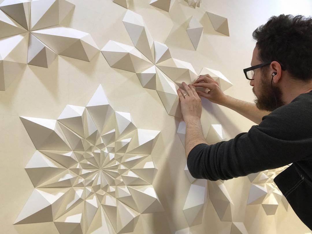 Geometric Art geometric art Engineer Turns Simple Sheets Of Paper Into Geometric Art engineer turns simple sheets paper geometric art 22