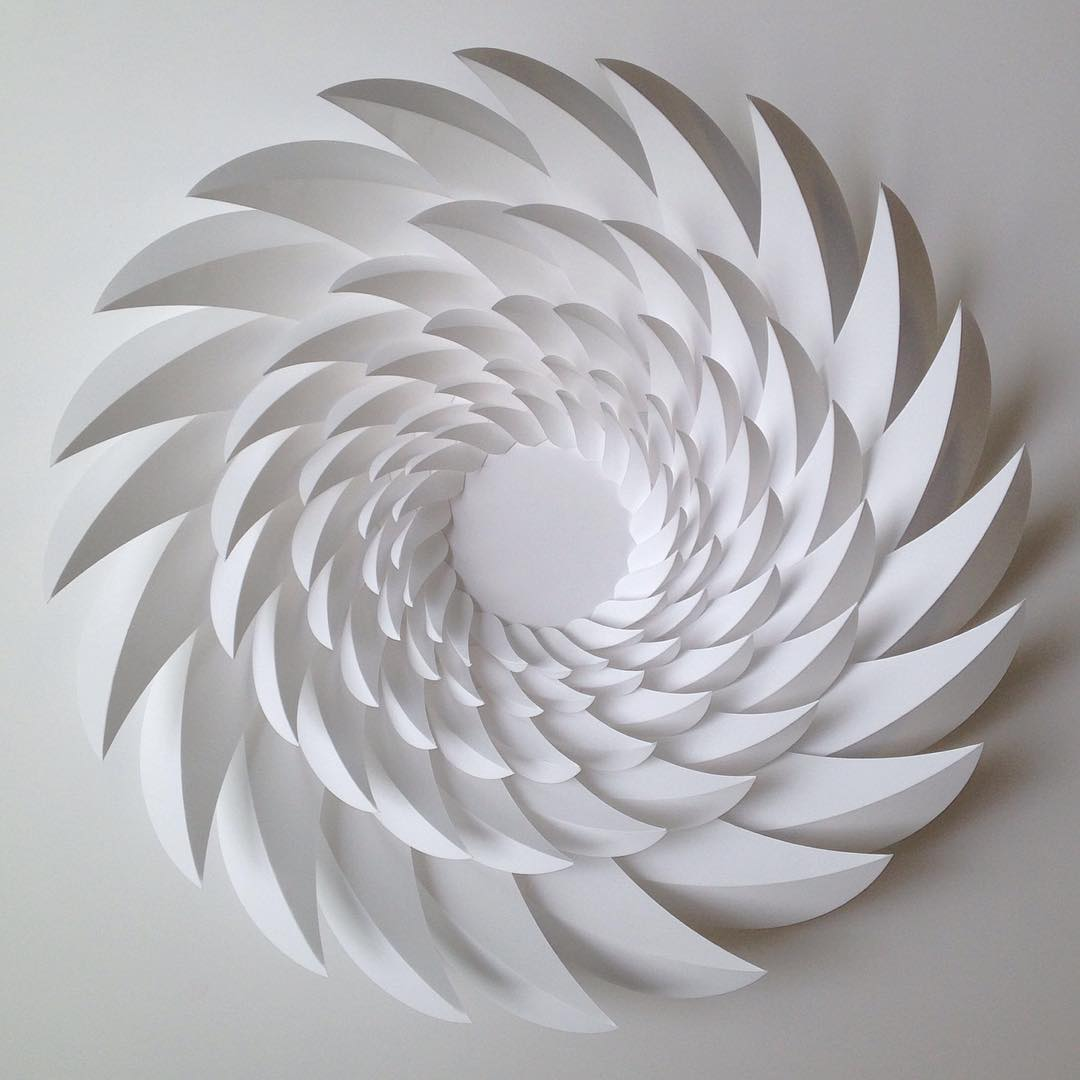 geometric art Engineer Turns Simple Sheets Of Paper Into Geometric Art engineer turns simple sheets paper geometric art 7