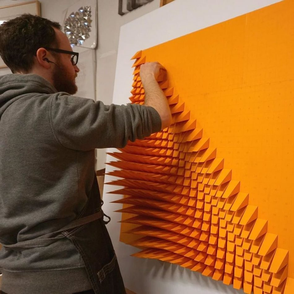 geometric art Engineer Turns Simple Sheets Of Paper Into Geometric Art engineer turns simple sheets paper geometric art 9