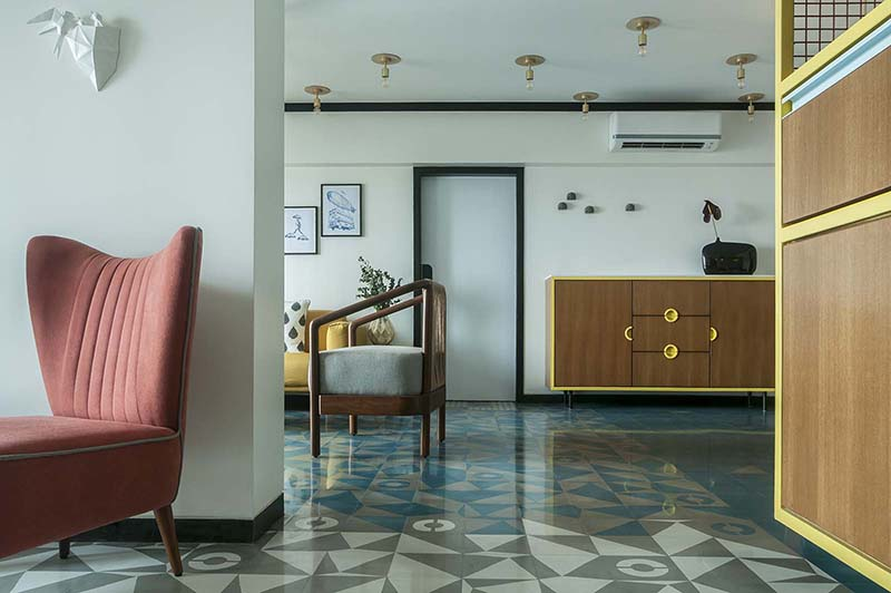 MuseLAB MuseLAB Tiles an Apartment with 21st-Century Art Deco Sophistication muselab tiles an apartment in mumbai with 21st century art deco sophistication 6 1