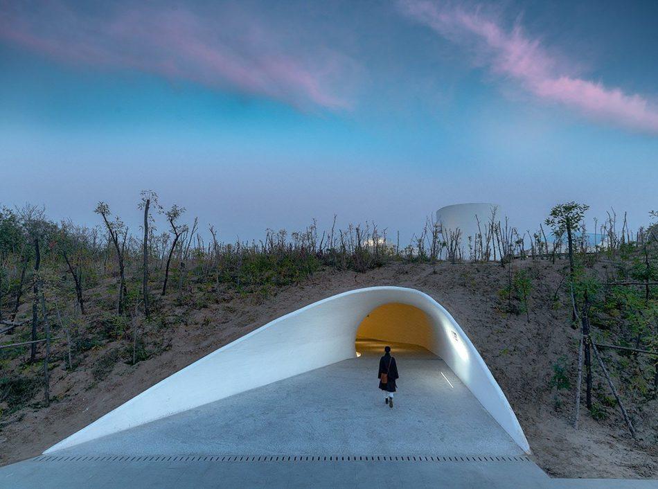 Stunning Subterranean Museum Built Beneath The Sand Dunes In China stunning subterranean museum built beneath sand dunes china 3