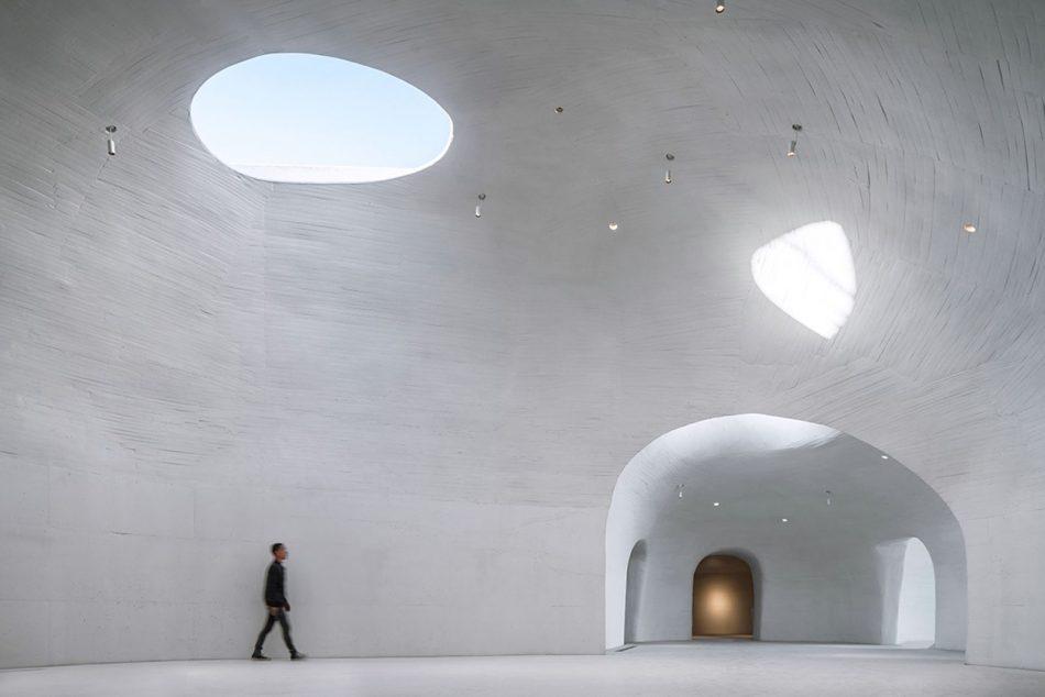Stunning Subterranean Museum Built Beneath The Sand Dunes In China stunning subterranean museum built beneath sand dunes china 9